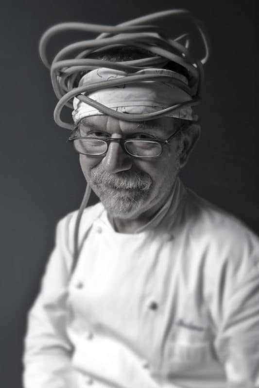 Crazy portrait chef Al Cavall