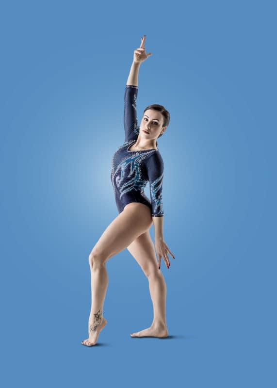 Foto pubblicitaria sport ginnastica Brescia Vanessa Ferrari