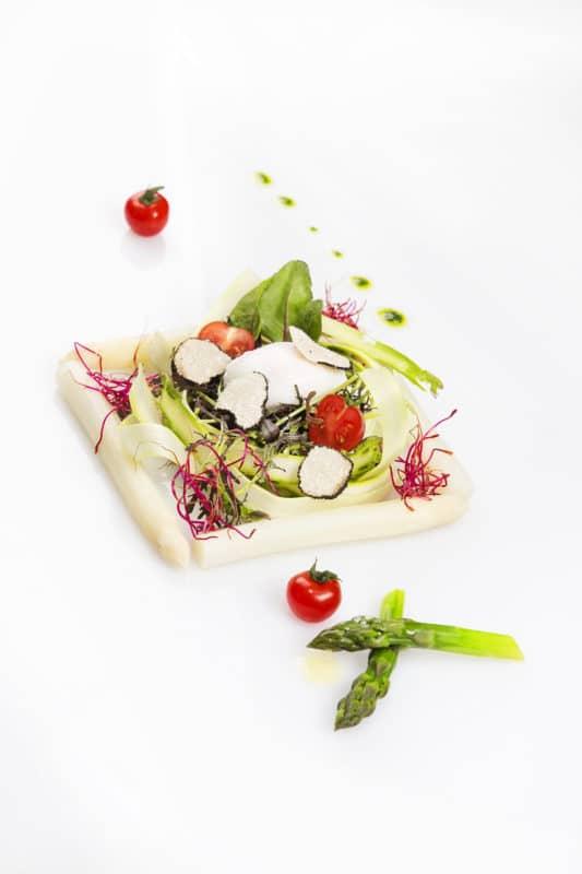 Particolare food insalata e verdure