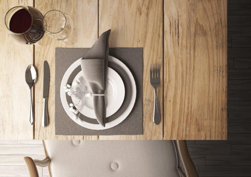 Tavolo cucina in legno in 3d